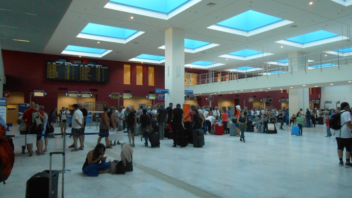 Chania Daskalogiannis Airport is the main international airport serving Chania in Crete island.